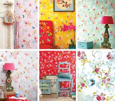 Just ordered this wallpaper (in pink, top left) for my new office! Yay! It's going to be the girliest office in the WORLD.