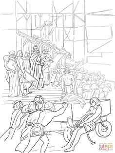 king solomon builds the temple coloring page supercoloringcom