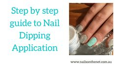 Step by step guide to Nail Dipping Application Black Nail Polish, Black Nails, Sns Nails, Best Concealer, Makeup Step By Step, Dip Powder, Powder Nails, Step Guide, Have Time
