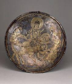Silver dish depicting Emperor Constantius II, 4th century CE