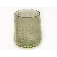 Vaas glas met visgraad oud rose of groen € 17,95