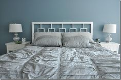 west elm inspired headboard, bedroom ideas, home decor