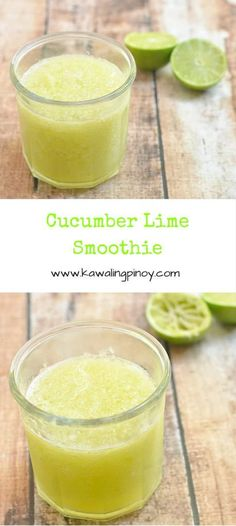 Cucumber Lime Smoothie is made with cucumber, lime juice, and honey. Deliciously tart and refreshing, it's the perfect summer drink. Fruit Smoothies, Fruit Drinks, Healthy Smoothies, Yummy Drinks, Healthy Drinks, Detox Smoothies, Healthy Eating, Alcoholic Beverages, Smoothie Drinks