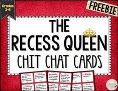 https://www.teacherspayteachers.com/Product/The-Recess-Queen-Chit-Chat-Cards-for-Grades-3-6-1988688