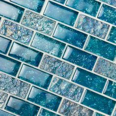 Useful Walk-in Shower Design Ideas For Smaller Bathrooms – Home Dcorz Glass Tile Bathroom, Glass Pool Tile, Blue Glass Tile, Rustic Bathroom Vanities, Blue Tiles, Glass Mosaic Tiles, Bathroom Colors, Bathroom Renos, Pool Bathroom