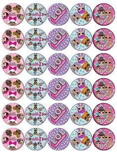 30 x Lol Surprise Dolls Cupcake Toppers Edible Wafer Paper Fairy Cake Toppers Doll Birthday Cake, Birthday Party Themes, Lol Doll Cake, Pinterest Diy Crafts, Avengers Cartoon, Edible Cupcake Toppers, Animal Crafts For Kids, Balloon Decorations Party, Doll Party