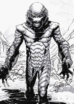 Creature from the Black Lagoon, by way of Chris Bachalo.