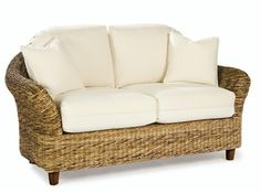 Site has pretty seagrass headboard & chair I'd love to have.Seagrass Loveseat - Tangiers Paradise Wicker 62""