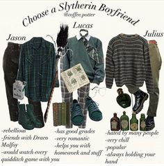 Slytherin boys - >>they all sound pretty good tbh Warm Outfits, Retro Outfits, Grunge Outfits, Fashion Outfits, Mode Harry Potter, Harry Potter Outfits, Harry Potter Style, Crop Top Hoodie, Aesthetic Fashion