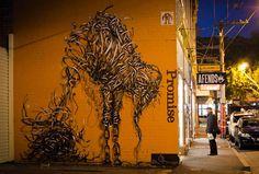 'Amateur Promise' – Melbourne, Australia - Twisted Metal Street Art Murals by DALeast