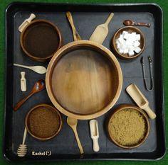 "Sensory fun with tea, coffee and sugar from Rachel ("",)"