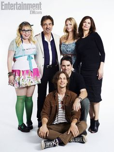 (Standing, left to right) KIRSTEN VANGSNESS, JOE MANTEGNA, A.J. COOK, JEANNE TRIPPLEHORN, (kneeling) THOMAS GIBSON, (seated) MATTHEW GRAY GUBLER, Criminal Minds