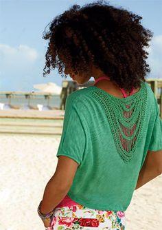 Crochet Back Solid- Delias
