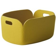 muuto restore kurv gul Licht Box, Muuto, Pet Bottle, Charity, Restoration, Yellow, Storage, Restore, Trends