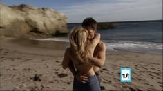 Hope & Wyatt Kissing on the Beach on B&B | 1-23-14