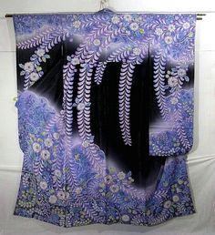 Geisha Art, Kimono Japan, Kimono Design, Wedding Kimono, Traditional Outfits, Traditional Fashion, Silk Art, Japanese Aesthetic, Japanese Textiles