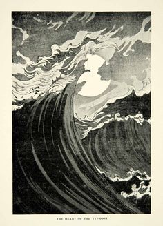 Japanese Typhoon Print from 1899