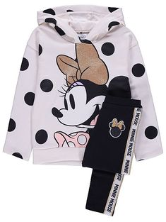 Disney Minnie Mouse Hoodie and Leggings Outfit Girls Clothes Shops, Girls Fashion Clothes, Kids Fashion, Teenage Girl Outfits, Toddler Girl Outfits, Boy Outfits, Minnie Mouse Hoodie, Mickey Mouse Outfit, Girls Pajamas