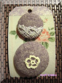 fabric covered button... using button maker ... a very good handmade tool