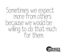 Expectations are the hardest thing to give up