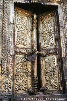 Changu Narayan Temple Door in Kathmandu Valley, Nepal