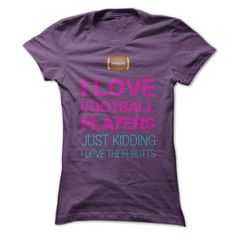 I love Football Players - #shirts #hoodie sweatshirts. BUY TODAY AND SAVE => https://www.sunfrog.com/Sports/I-love-Football-Players.html?id=60505