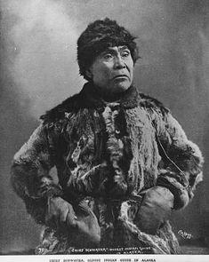 Alaskan Indian known as Chief Schwatka, Alaska, ca. 1897 :: American Indians of the Pacific Northwest -- Image Portion