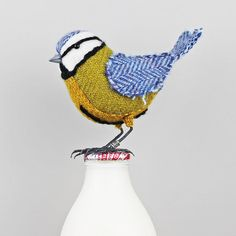 For decor! Obviously, keep away from the hands and mouths of little ones! x Tweed Fabric Bird Sculpture handmade figurine by TheCottonPotter
