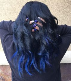 16 Stunning Midnight Blue Hair Colors to See in 2020 Blue Hair Balayage, Blue Hair Streaks, Blue Hair Highlights, Blue Ombre Hair, Hair Color Dark Blue, Blue Brown Hair, Hair Color For Black Hair, Green Hair, Edgy Hair Colors