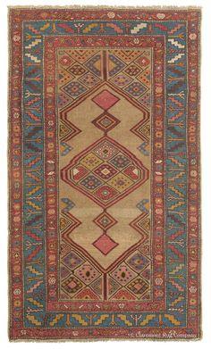 tribal & floral rug