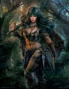 Explore the Fantasy collection - the favourite images chosen by CalicoLiya on DeviantArt. Fantasy Warrior, Fantasy Girl, Chica Fantasy, Warrior Girl, Dark Fantasy Art, Fantasy Women, Fantasy Artwork, Character Portraits, Character Art