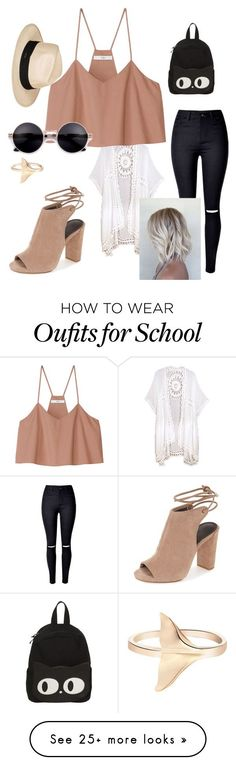 """""""Untitled #15"""" by sigrid-soetaert on Polyvore featuring WithChic, Do Everything In Love, TIBI, Roxy, 60secondstyle and PVShareYourStyle"""