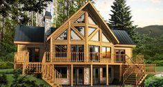 The Dakota Log Home Floor Plan by Timber Block Log Homes.