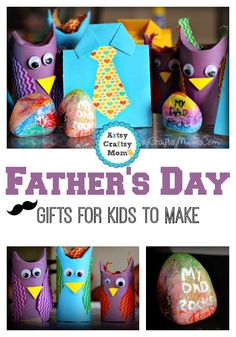 Nothing says Happy Father's Day like a homemade gift from the heart! Help your child surprise Dad with one of these super special crafts this year. http://snip.ly/FOkp?utm_content=buffer381ac&utm_medium=social&utm_source=pinterest.com&utm_campaign=buffer