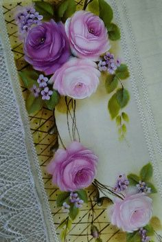 One Stroke Painting, Fabric Painting, Background Pictures, Pansies, Floral Watercolor, Beautiful Flowers, Decoupage, Diy And Crafts, Floral Wreath