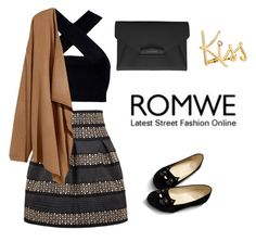 """""""Skirt"""" by szeying00 ❤ liked on Polyvore featuring Lanvin, Motel, H&M, Givenchy, romwe and shein"""