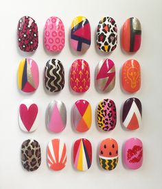 Our Virgin Media Louder Lounge nail art menu at V Festival last... - The Illustrated Nail