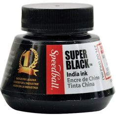 Speedball India Ink 2 oz, Super Black Image 1 of 2