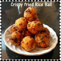 Chinu's Kitchen Corner: Crispy Fried Rice Ball