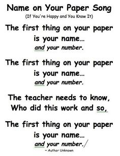 I teach high school kids, but still think I am going to use it. They think I am crazy anyway! Kindergarten Songs, Preschool Songs, Kindergarten Classroom, Classroom Chants, Elementary Teacher, Classroom Routines, Classroom Procedures, Preschool Activities, Classroom Behavior