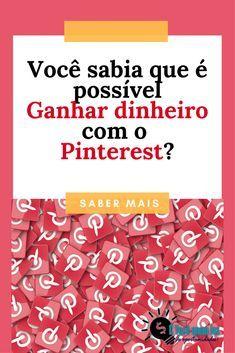 Descubra como você pode ganhar dinheiro com o Pinterest! #pinterest #trabalharpelainternet #trabalharemcasa #ganhardinheirocompinterest