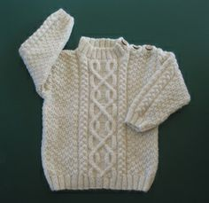 Organic Wool Baby Boy's Cable Sweater