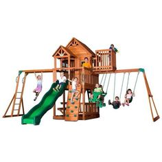 The Skyfort II Play Centre is sure fire kid's favourite with a big clubhouse and crow's nest for an epic view. #Playground #Play #Swing #slides #CLIMB  Play Now, Pay Later with #Afterpay #humm #zip and #Laybuy available