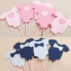 10 Pcs/Lot Cute Baby Boy Girl Clothes Cupcake Toppers Children Party Decoration