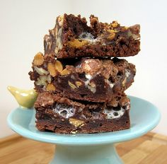 Rocky Road Brownies - brownies, marshmallows, butterscotch/peanut butter chips and pecans