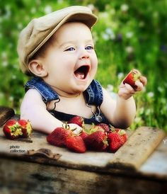 Let your little darlin' help pick (and eat) strawberries...make some happy memories...  Because Trenton man is so so cute❤️ love him so much. So funny he's on here.