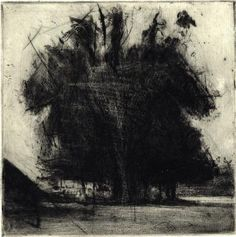Sarah Pinyan posted 'Copse', by Lee Newman. Drypoint to her -nice signs- postboard via the Juxtapost bookmarklet. Landscape Drawings, Abstract Landscape, Landscape Paintings, Art Drawings, Photographie Portrait Inspiration, Art Graphique, Woodblock Print, Tree Art, Painting & Drawing