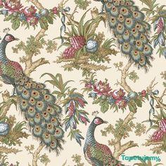 tapeta ptaki pawie (365 zł) // http://tapetujemy.pl/p/317/10905/tapeta-york-18-karat-ek4220-18-karat-york-tapety-dekoracyjne.html