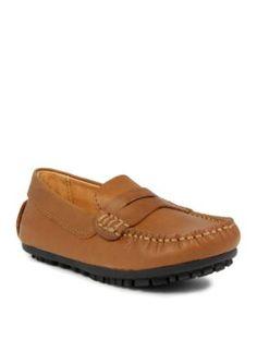 Umi Childrens Shoes  David Moccasin - Boy InfantToddlerYouth 8 - 3