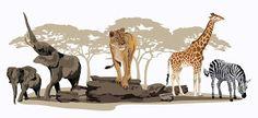 Vectores de animales de la sabana (Vectors of savannah animals)